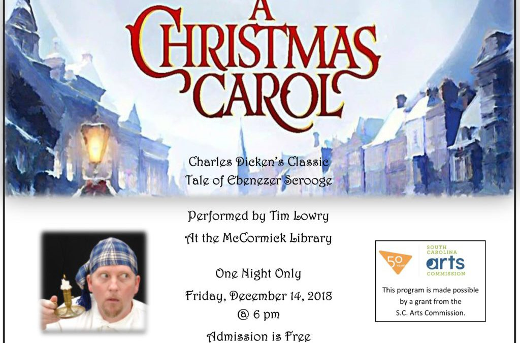 Tim Lowry presents A Christmas Carol – December 14, 2018
