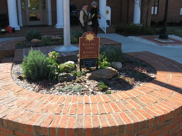 Xeriscape Garden Planted at Library
