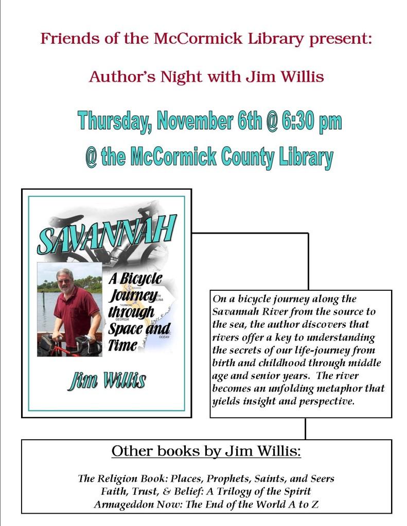 Author's Night Jim Willis