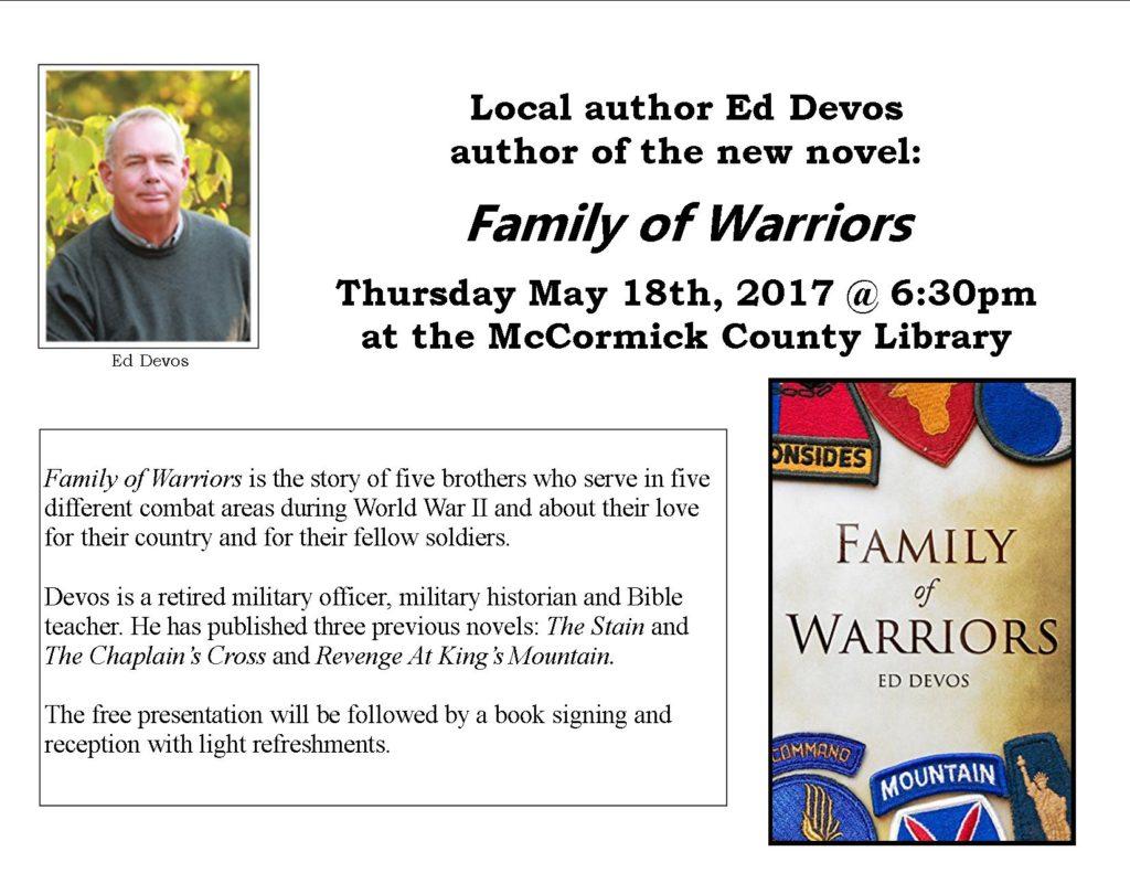 Ed Devos 2017 book signing
