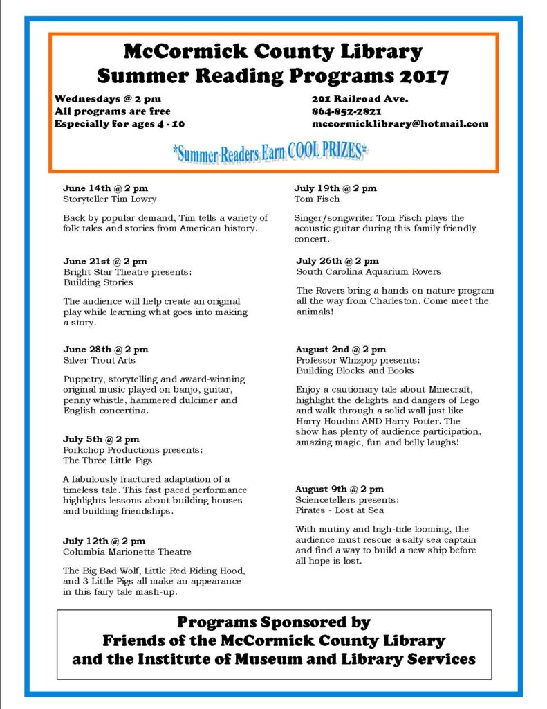 Library SRP 2017 flyer