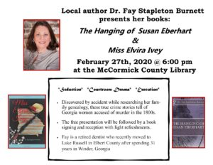 Local Author Faye Stapleton Burnett on Feb. 27th, 2020