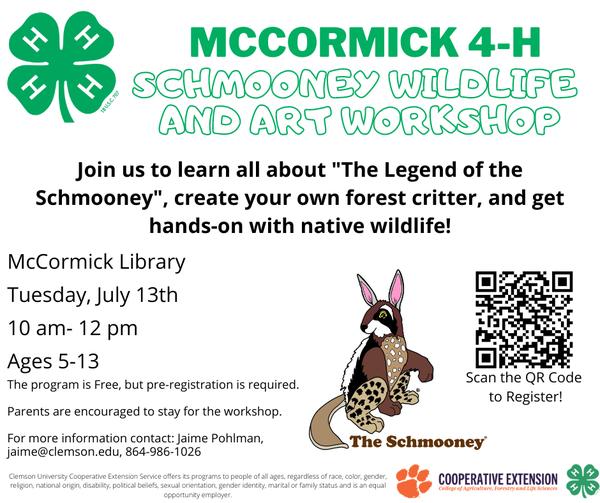 Wildlife Workshop with McCormick 4-H