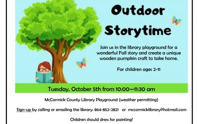 Outdoor Storytime Oct. 5th, 2021