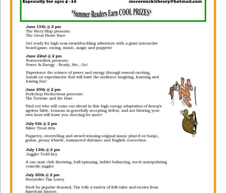 Summer Reading Program 2016